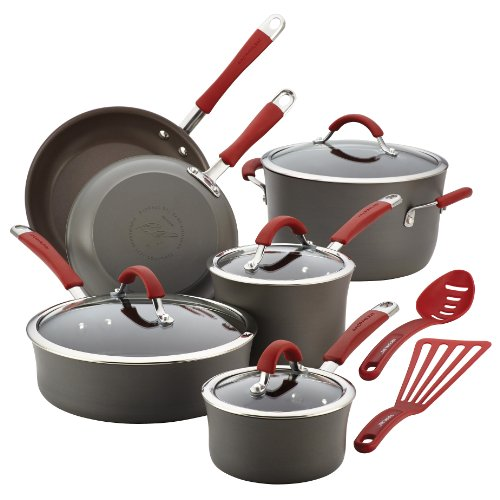 rachael-ray-cucina-hard-anodized-aluminum-nonstick-cookware-set-12-piece-gray-cranberry-red-handles
