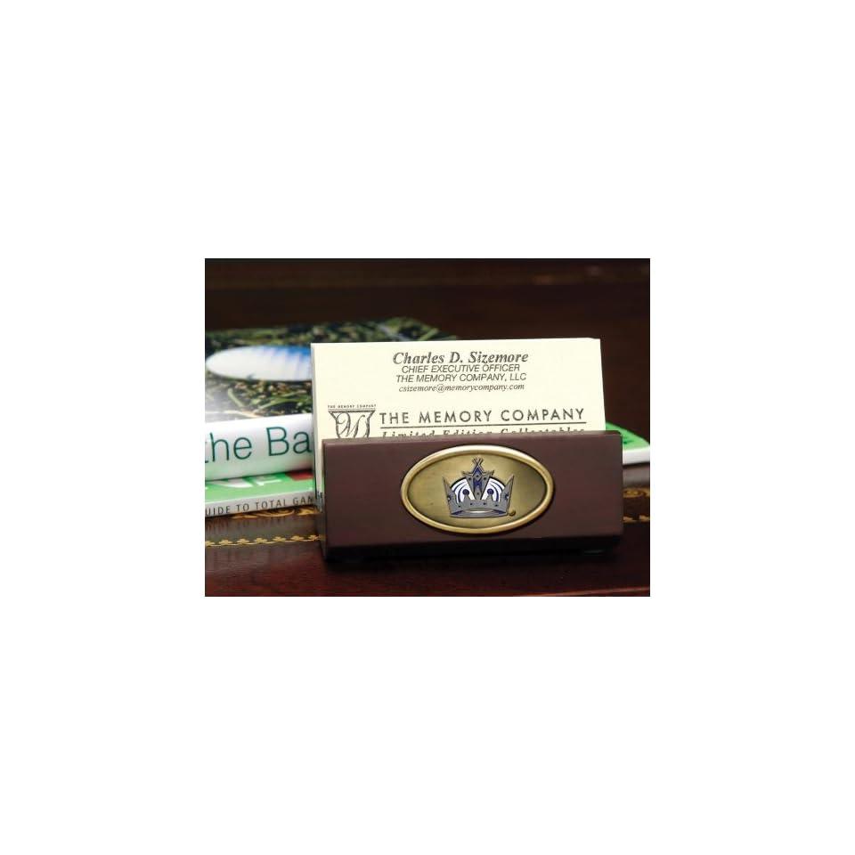 LOS ANGELES KINGS Team Logo Medallion BUSINESS CARD HOLDER (3.5 Wide x 1.75 Tall)