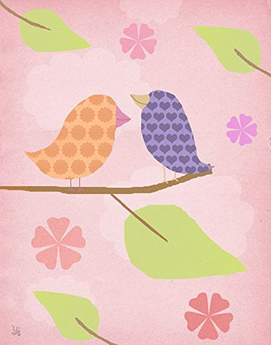 Green Leaf Art Birds II Canvas Art