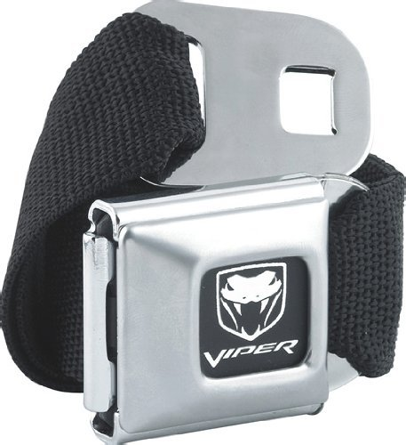Official DODGE VIPER Seat Belt belt and buckle combo canvas (Seatbelt Belt Black compare prices)