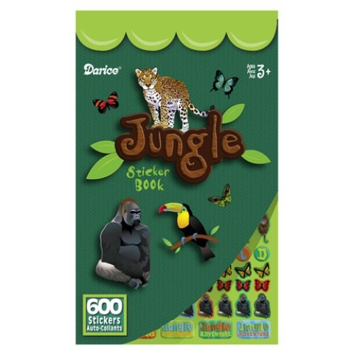WeGlow International Jungle Animal Sticker Books, Set of 4