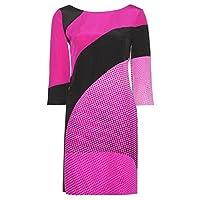 Diane Von Furstenburg Sienna Dress in Speckle Wave Pink/Bk/Lotus Bry