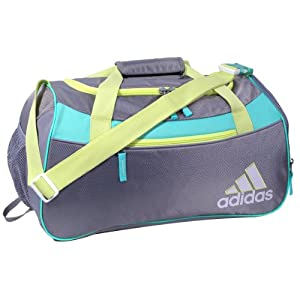 adidas Women's Squad II Duffel Bag, Mid Grey/Glow/Bahia Mint