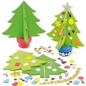 moosgummi bastelset 3d weihnachtsbaum f r kinder zum. Black Bedroom Furniture Sets. Home Design Ideas