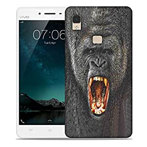 Snoogg Angry Designer Protective Back Case Cover For VIVIO V3 MAX