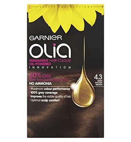 Garnier Olia Permanent Hair Colour 4.3 Dark Golden Brown (Hair Color Olia compare prices)