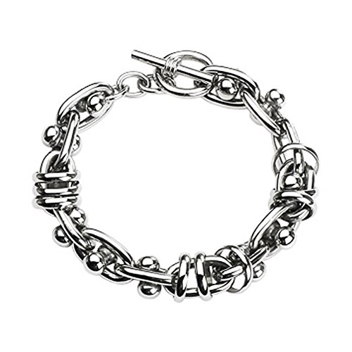 Stainless Steel Multiple Ring Chain Link With Moving Dumbbell