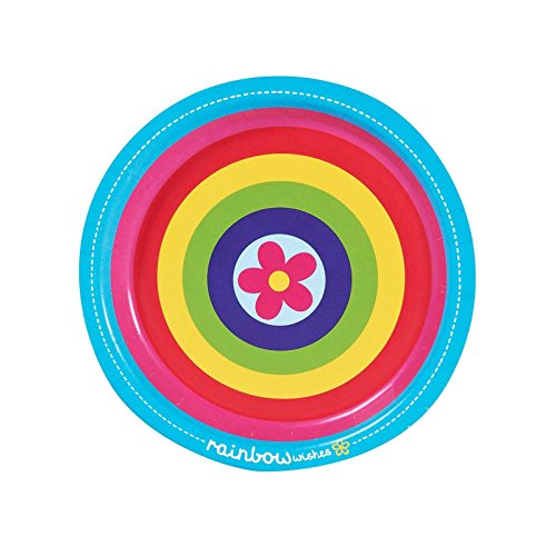Rainbow Wishes Dessert Plates (8) - 1