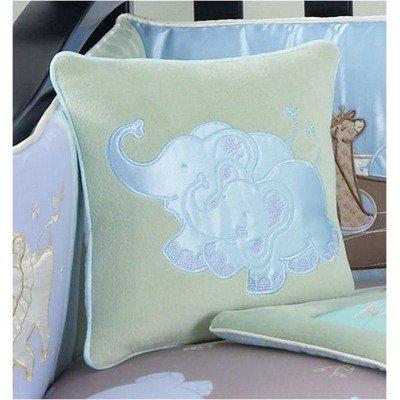 Jessica Breedlove Noahs Ark Pillow, Blue/Brown front-267745