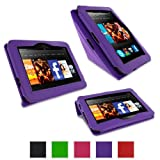 "rooCASE Amazon Kindle Fire HD 7"" Case - Origami Stand Tablet Case - PURPLE (Previous Generation 2012)"