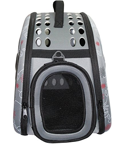 Petown Soft-sided Pet Carrier-Dog Carrier Airline Approved with Foldable and Washable (Gray)