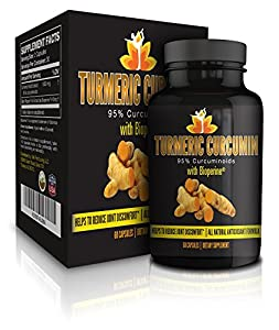 Me First Living Turmeric Curcumin with Black Pepper Dietary Supplement, 1000mg, 60 Capsule