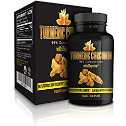 Me First Living Premium Turmeric Curcumin With Black Pepper, 95% Curcuminoid (Extract!), 1000mg, 19x More Potent Than Other Brands, Increased Bioavailability, Vegan Friendly, All Natural, Lab Tested 60 capsules