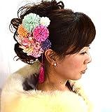 髪飾り 選べる髪飾り8本セット 14タイプ/11(白ピンク)