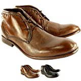 Mens H By Hudson Cruise Leather Lace Up Shoes Smart Ankle Boots
