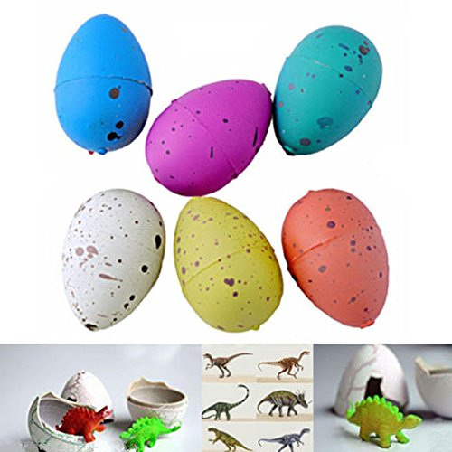 6 Pcs Cute Hatching Magic Growing Easter Pet Dinosaur Kit Excavation Egg Add Water Child Boys Girls Inflatable Toys