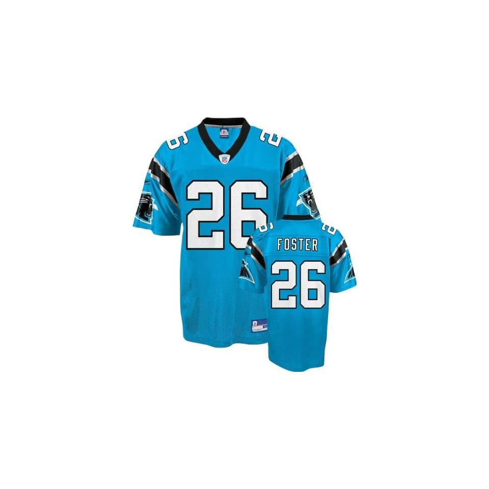 buy popular 13189 1b186 DeShaun Foster Blue Reebok NFL Replica Carolina Panthers ...