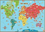 Childrens World Map Poster Wall Art F...