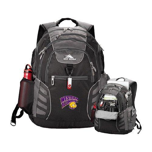 Western Illinois High Sierra Big Wig Black Compu Backpack 'Western Illinois-Rocky' (Rocky Wig)