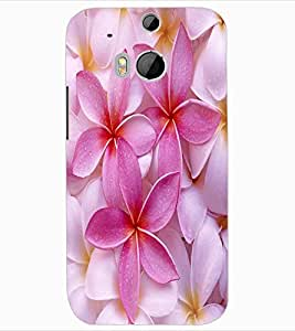 ColourCraft Lovely Flowers Design Back Case Cover for HTC ONE M8
