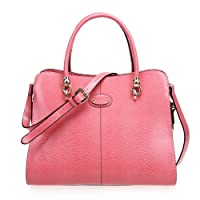 Fineplus New Womens New Simple Split Cow Leather Handbags
