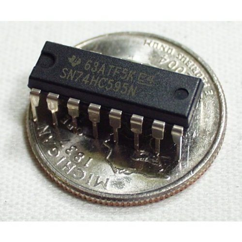 10 pcs SN74HC595N 8-bit serial-in, serial or parallel-out shift register with output latches