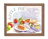 Kitchen Recipe Apple Pie Cafe Diner Home Decor Wall Picture Oak Framed Art Print