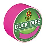 Duck Brand 868088 X-Factor Neon Colored Duct Tape, Funky Flamingo, 1.88-Inch by 15 Yards, Single Roll
