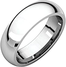 Sterling Silver 6mm Comfort Fit Wedding Band Size 5