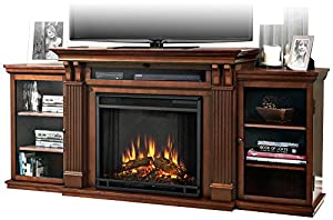 real flame ashley entertainment center electric fireplace dark espresso. Black Bedroom Furniture Sets. Home Design Ideas
