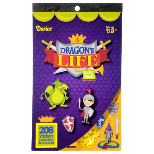 WeGlow International Dragon Life Sticker Book, Set of 4