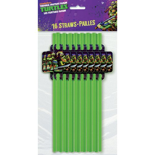 Cheap Teenage Mutant Ninja Turtles Straws, 16 Count
