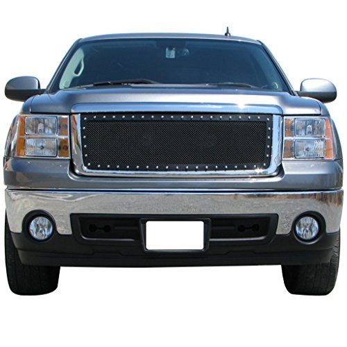 E-Autogrilles 07-13 GMC Sierra 1500 / 07-10 Denali NEW BODY Rivet Stainless Steel Wire Mesh Grille (46-0712) (Silverado Tuner Knob compare prices)