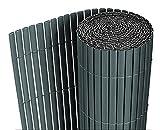 neuhaus-PVC-Sichtschutzmatte-90x300cm-grau-Sichtschutz-Windschutz-Gartenzaun-Balkon-Umspannung-Zaun