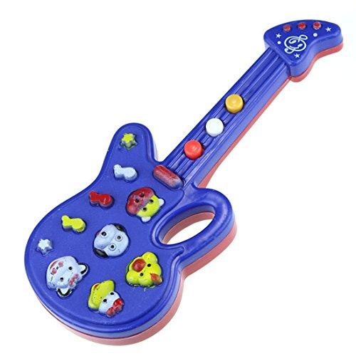 Bestpriceam (Tm) Electronic Guitar Toy Nursery Rhyme Music Children Baby Kids Gift Blue