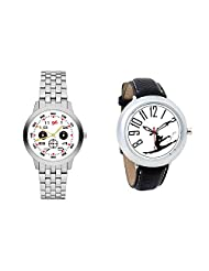 Gledati Men's White Dial And Foster's Women's White Dial Analog Watch Combo_ADCOMB0001801