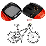 SHARP EAGLE 2016 Waterproof Solar Power Bike Bicycle Rear Tail Red 2 LED 4 Mode Light Lamp,Bicycle Super Bright Solar Energy Rechargeable Cycle Rear Tail LED Power Light
