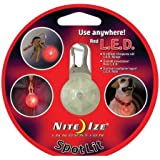 Nite Ize SLG-03-10 SpotLit Clip-on LED Go Anywhere Light, Red