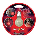 Nite Ize SpotLit Clip-On LED Light with Carabiner, Weather Resistant, Red