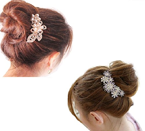 かんざし トメ フラワー ストーン 花 髪飾り パール ヘアピン キラキラ ヘアセット