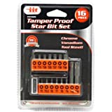 IIT 65920 Security Tamper Proof 6 Point Star Bit Set Torx Socket Tamperproof