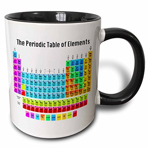 3dRose mug_108318_4 The Periodic Table of Elements Two Tone Black Mug, 11 oz, Black/White (Periodic Table Mug compare prices)