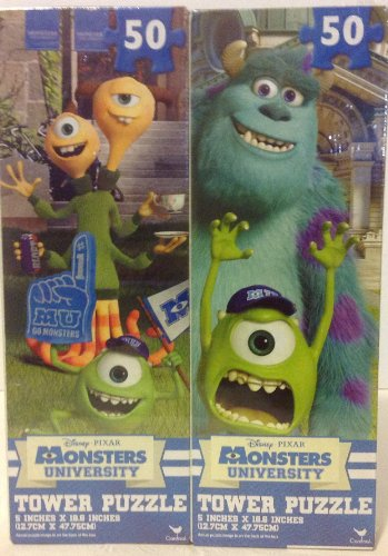 Disney Pixar Monsters University Tower Puzzle 50 Pieces (Assorted Set of 2) - 1