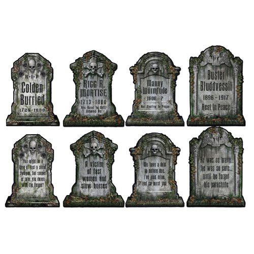 Halloween Tombstone Cutouts, 16-Inch