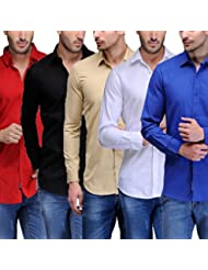 Feed Up Men's Combo Of 5 Cotton Shirts