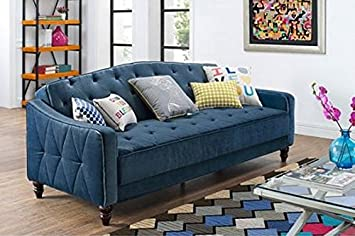 Millbank Tufted Sofa Sleeper - Navy Velour