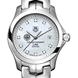 TAG HEUER watch:Clemson University TAG Heuer Watch - Women's Link with Mother of Pearl Diamond Dial at M.LaHart