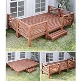 山善(YAMAZEN) ガーデンマスター 天然木ウッドデッキ11点セット(1.5坪タイプ) YWD-540