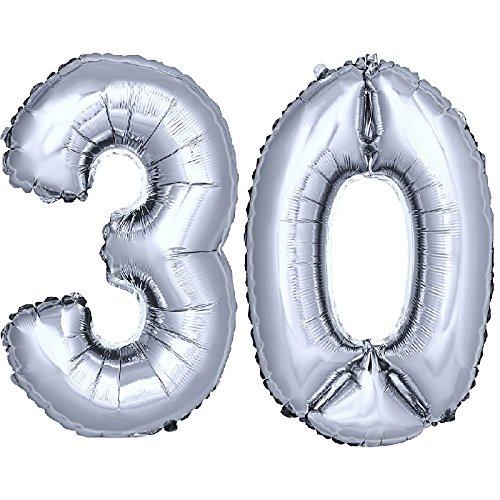 Dekorex folienballon zahlenballon luftballon geburtstag for Geburtstagsdeko 30