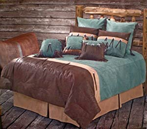 Amazon.com: Western Bedding Tooled Turquoise San Juan
